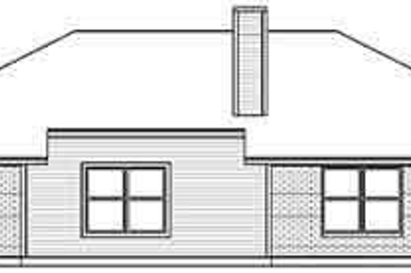 Traditional Exterior - Rear Elevation Plan #84-193 - Houseplans.com