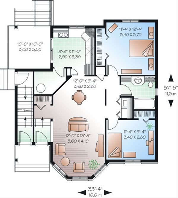 European Floor Plan - Main Floor Plan #23-773