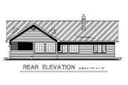 Craftsman Style House Plan - 2 Beds 2 Baths 1473 Sq/Ft Plan #18-1017 Exterior - Rear Elevation