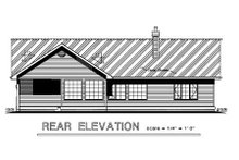 House Blueprint - Craftsman Exterior - Rear Elevation Plan #18-1017