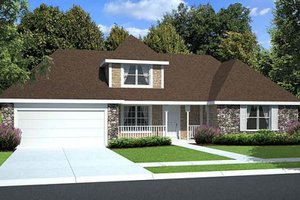 Country Exterior - Front Elevation Plan #312-529