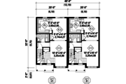 Traditional Style House Plan - 5 Beds 2 Baths 2474 Sq/Ft Plan #25-4399 Floor Plan - Main Floor Plan