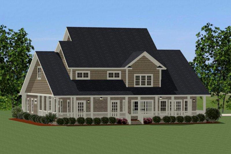Traditional Exterior - Rear Elevation Plan #898-29 - Houseplans.com