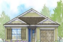 Southern Exterior - Front Elevation Plan #938-104