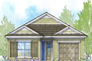 Architectural House Design - Southern Exterior - Front Elevation Plan #938-104
