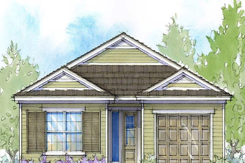 Southern Style House Plan - 3 Beds 2 Baths 1341 Sq/Ft Plan #938-104 Exterior - Front Elevation