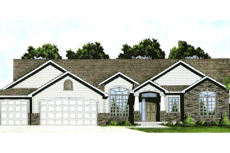 Traditional Exterior - Front Elevation Plan #58-213 - Houseplans.com