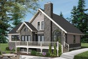 Country Style House Plan - 3 Beds 2.5 Baths 1886 Sq/Ft Plan #23-2562 Exterior - Rear Elevation