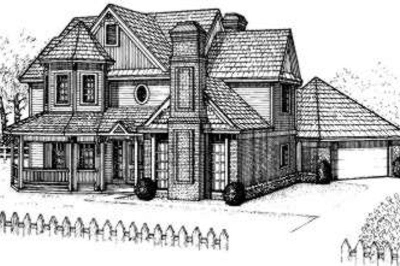 Farmhouse Style House Plan - 3 Beds 2 Baths 2687 Sq/Ft Plan #310-114 Exterior - Front Elevation