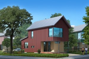 Modern Exterior - Front Elevation Plan #909-3
