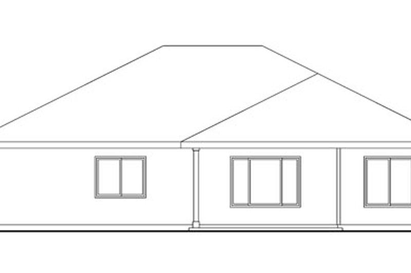 Craftsman Exterior - Rear Elevation Plan #124-775 - Houseplans.com