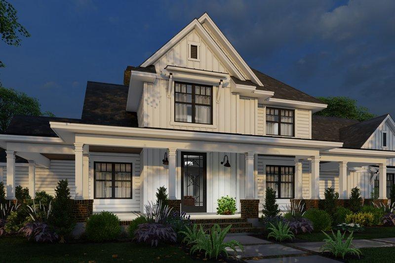 Dream House Plan - Farmhouse Exterior - Front Elevation Plan #120-266