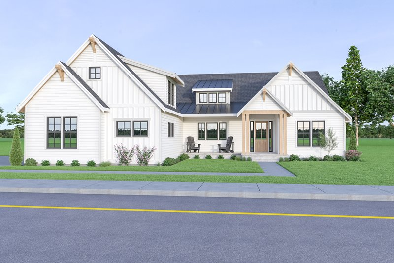 Home Plan - Contemporary Exterior - Front Elevation Plan #1070-86