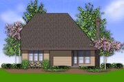 Cottage Style House Plan - 3 Beds 2.5 Baths 1761 Sq/Ft Plan #48-567 Exterior - Rear Elevation