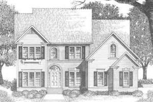 Traditional Exterior - Front Elevation Plan #129-122