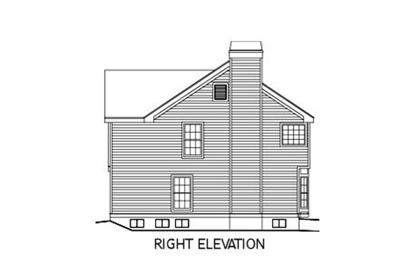 Country Exterior - Other Elevation Plan #57-183 - Houseplans.com