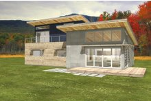 Architectural House Design - Modern Exterior - Rear Elevation Plan #497-31
