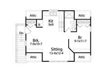 Traditional Floor Plan - Upper Floor Plan Plan #22-564
