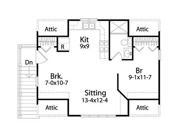 House Plan Design - Traditional Floor Plan - Upper Floor Plan #22-564