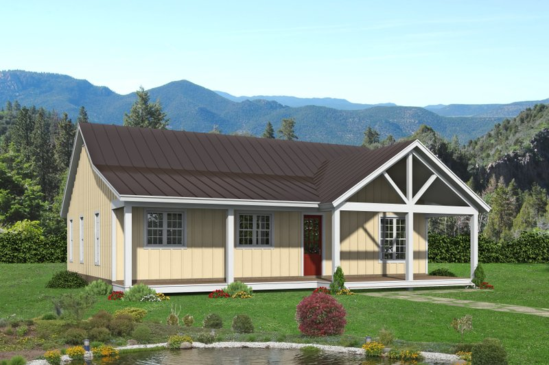Architectural House Design - Country Exterior - Front Elevation Plan #932-424