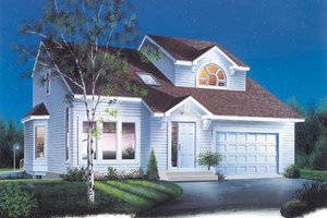 Exterior - Front Elevation Plan #23-244