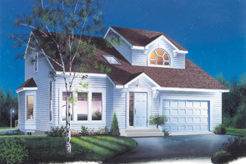 House Plan - 3 Beds 1.5 Baths 1517 Sq/Ft Plan #23-244 Exterior - Front Elevation