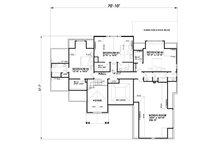 Traditional Floor Plan - Upper Floor Plan Plan #30-345