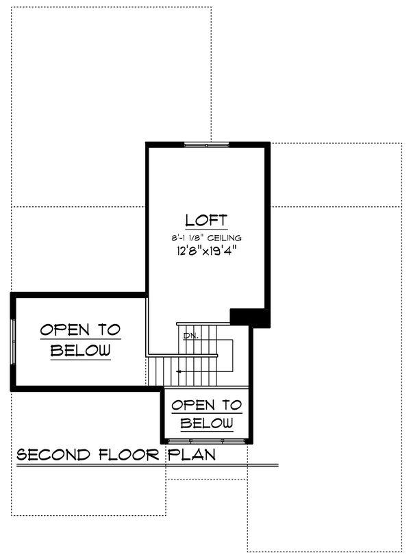 Ranch Floor Plan - Upper Floor Plan Plan #70-1242