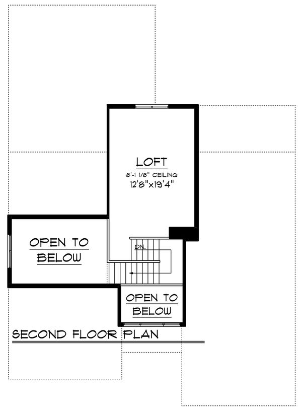 Ranch Floor Plan - Upper Floor Plan Plan #70-1242