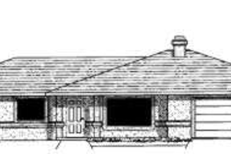 Adobe / Southwestern Style House Plan - 4 Beds 2 Baths 2019 Sq/Ft Plan #303-320 Exterior - Front Elevation