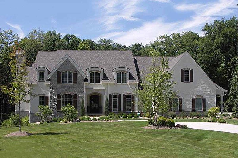 European Style House Plan - 5 Beds 5.5 Baths 7092 Sq/Ft Plan #458-14 Exterior - Front Elevation