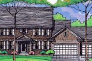 Craftsman Style House Plan - 4 Beds 2.5 Baths 2549 Sq/Ft Plan #51-388 Exterior - Front Elevation
