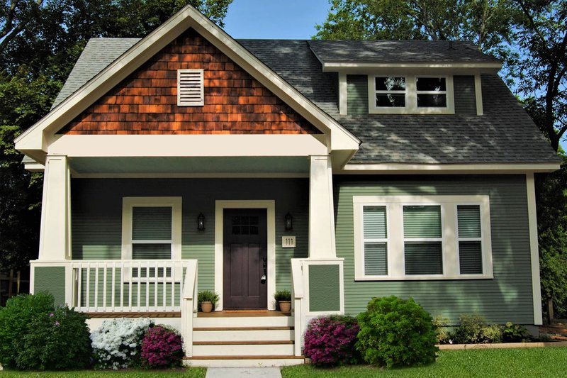 Dream House Plan - Craftsman Exterior - Front Elevation Plan #461-50