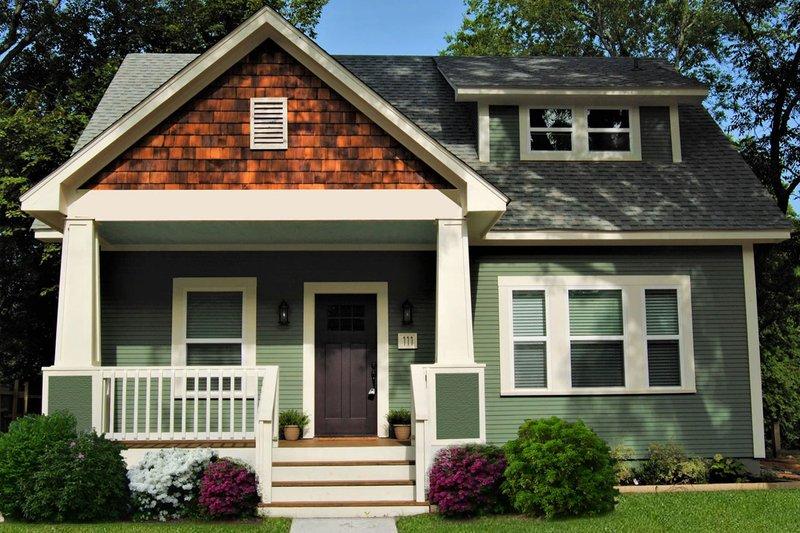 House Plan Design - Craftsman Exterior - Front Elevation Plan #461-50