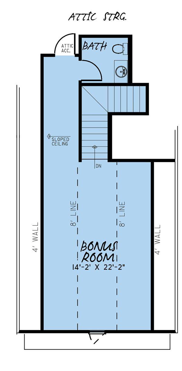 European Floor Plan - Upper Floor Plan #923-138