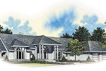Modern Exterior - Front Elevation Plan #72-192