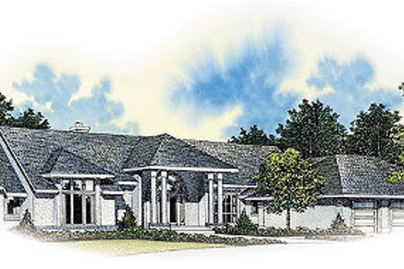 House Blueprint - Modern Exterior - Front Elevation Plan #72-192