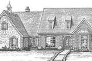 European Style House Plan - 4 Beds 3.5 Baths 4082 Sq/Ft Plan #310-343 Exterior - Front Elevation