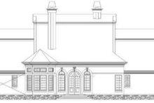 Colonial Exterior - Rear Elevation Plan #119-144