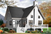 Home Plan - Country Exterior - Rear Elevation Plan #23-2264