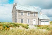 Colonial Style House Plan - 3 Beds 2.5 Baths 2112 Sq/Ft Plan #497-19