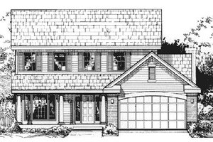 Country Exterior - Front Elevation Plan #320-370