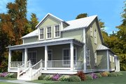 Traditional Style House Plan - 4 Beds 3 Baths 2713 Sq/Ft Plan #63-374 Exterior - Front Elevation