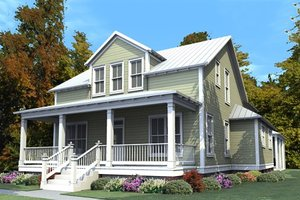 Traditional Exterior - Front Elevation Plan #63-374