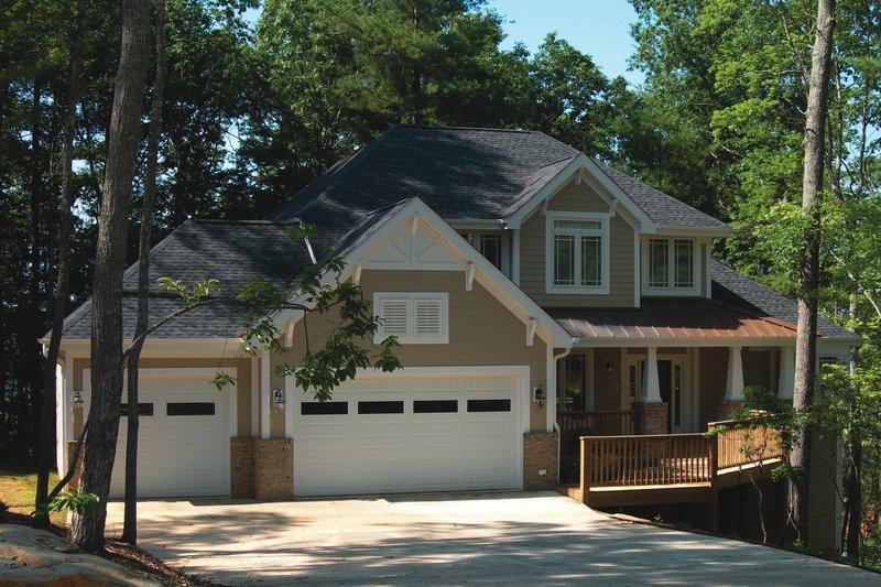 Craftsman Style House Plan - 4 Beds 3 Baths 2690 Sq/Ft Plan #20-1660