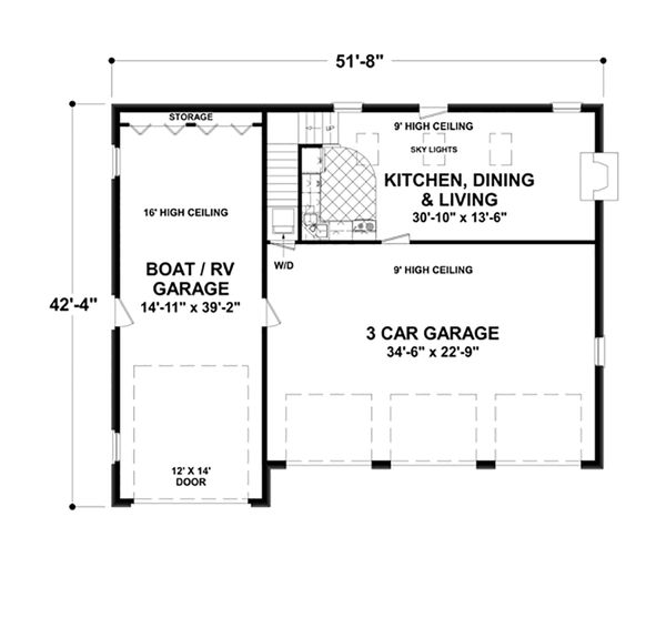 Craftsman Floor Plan - Main Floor Plan Plan #56-616