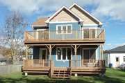 Traditional Style House Plan - 3 Beds 2.5 Baths 2005 Sq/Ft Plan #23-2011 Exterior - Rear Elevation