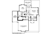 Contemporary Floor Plan - Main Floor Plan Plan #70-1496