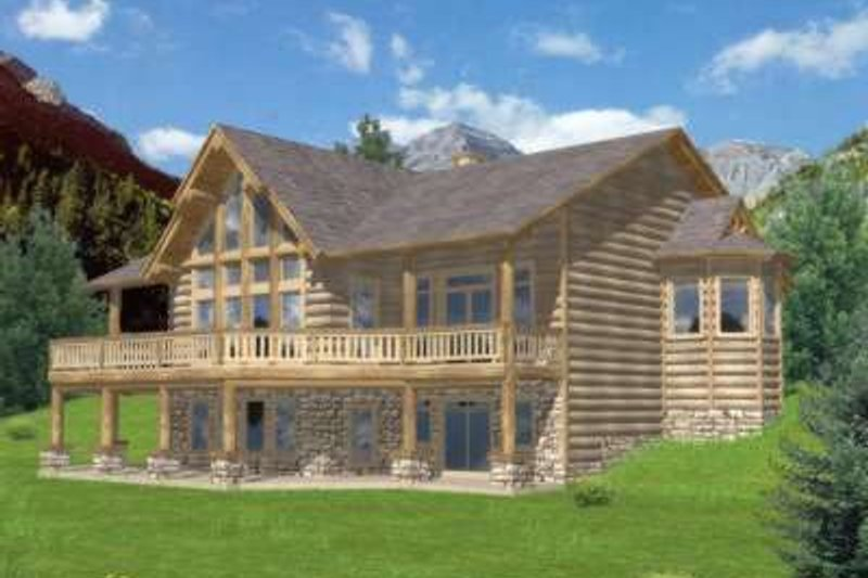 Exterior - Front Elevation Plan #117-467 - Houseplans.com