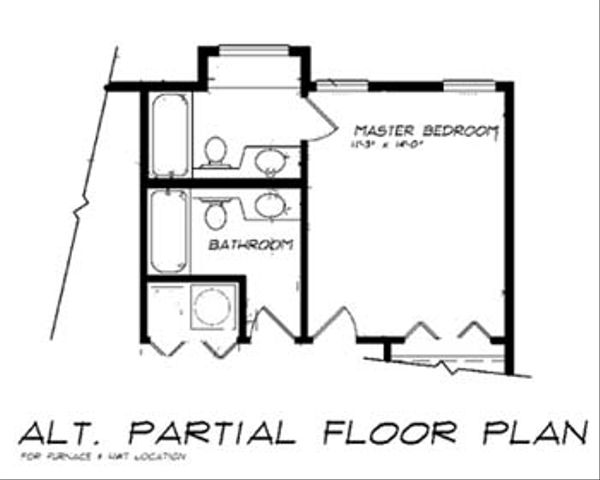 Country Floor Plan - Other Floor Plan Plan #47-645